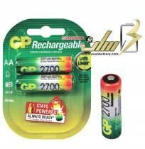 باتری قلمی شارژی جی پی 2700 میلی آمپر 2 عدد