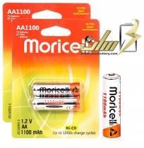 باتری قلمی شارژی موریسل moricell AA1100 میلی آمپر 4 عدد