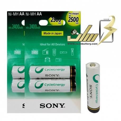 باتری قلمی شارژی سونی 2500میلی آمپر 4 عدد