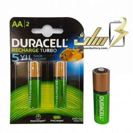 باتری قلمی شارژی دوراسل DURACELL AA 2500 میلی آمپر