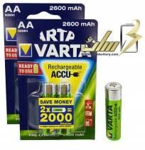 باتری قلمی شارژی وارتا VARTA AA 2600 میلی آمپر