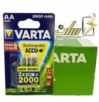 فروش عمده باتری قلمی شارژی وارتا 2600 VARTA AA