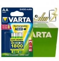 فروش عمده باتری قلمی شارژی وارتا 2400 VARTA AA