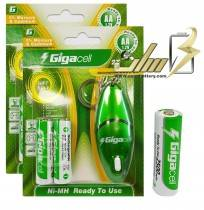 باتری قلمی شارژی گیگاسل Gigacell AA 2500