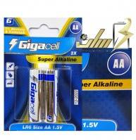 فروش عمده باتری قلمی آلکالاین گیگالس Gigacell AA Alkaline battery