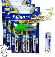 باتری قلمی آلکالاین گیگاسل4 Gigacell AA Alkaline battery