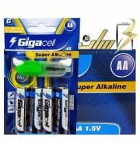 فروش عمده باتری قلمی آلکالاین گیگاسل4 Gigacell AA Alkaline battery