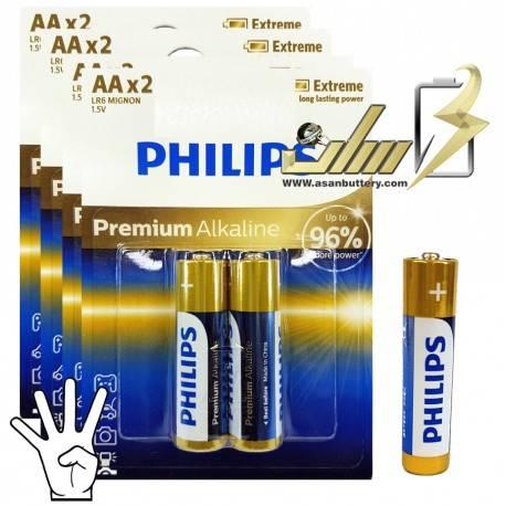 باتری قلمی آلکالاین فیلیپس PHILIPS AA Alkaline battery