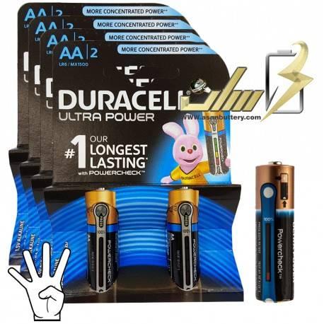 باتری قلمی آلکالاین دوراسل اولترا Duracell Ultra AA Alkaline battery 2x
