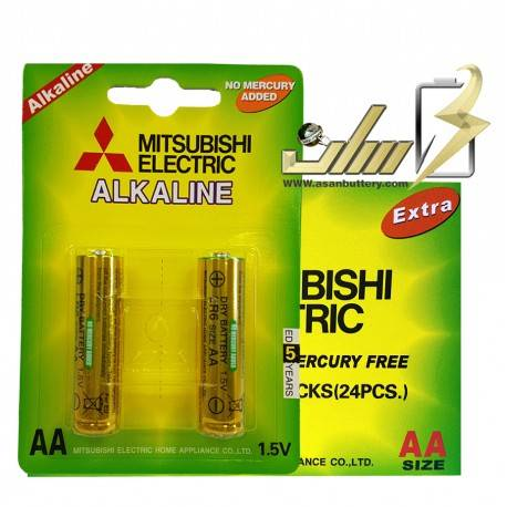 فروش عمده باتری قلمی آلکالاین میتسوبیشی Mitsubishi AA Alkaline battery 2x