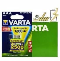 فروش عمده باتری نیمه قلمی شارژی وارتا AAA CHARGABLE BATTERY VARTA