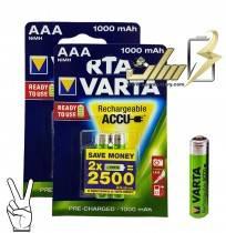 باتری نیمه قلمی شارژی وارتا AAA CHARGEABLE VARTA BATTERY