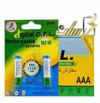 فروش عمده باتری نیمه قلمی سی اف ال AAA CHARGEABLE CFL BATTERY