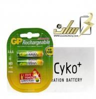 فروش عمده باتری نیمه قلمی شارژی جی پیAAA CHARGEABLE GP BATTERY