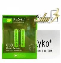 فروش عمده باتری نیمه قلمی شارژی جی پی 2 AAA CHARGEABLE GP BATTERY
