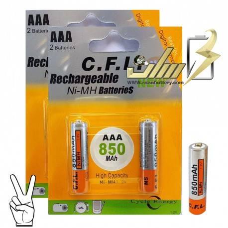 باتری نیمه قلمی شارژی سی اف ال 2 AAA CFL CHARGAEBLE BATTERY