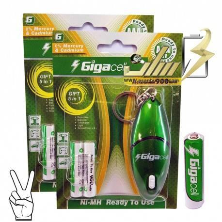 فروش عمده باتری نیمه قلمی شارژی گیگاسل AAA CHARGEABLE GIGACELL BATTERY