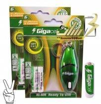 باتری نیمه قلمی شارژی گیگاسل AAA CHARGEABLE GIGACELL BATTERY