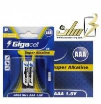 فروش عمده باتری نیمه قلمی آلکالاین گیگاسلAAA ALKALINE GIGLACELL BATTERY