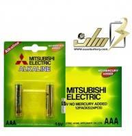 فروش عمده باتری نیمه قلمی آلکالاین شارژیAAA ALKALINE MITSUBISHI BATTERY