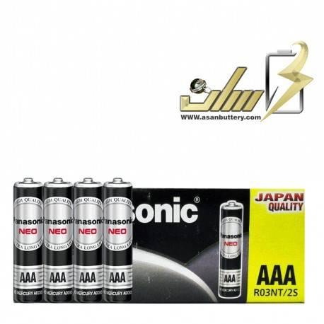 فروش عمده باتری نیمه قلمی معمولی پاناسونیکAAA PANASONIC NORMAL BATTERY