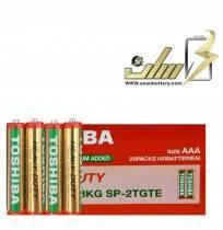فروش عمده باتری نیمه قلمی معمولی توشیباAAA TOSHIBA NORMAL BATTERY