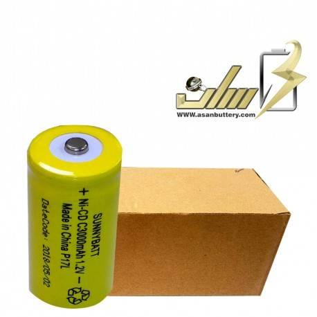 فروش عمده باتری شارژی سایز متوسط 1.2 ولت