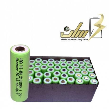 فروش عمده باتری شارژی 1.2 ولت قلمی سرتخت